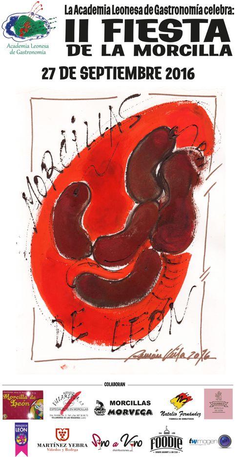 Cartel II Fiesta de la Morcilla Academia Leonesa de Gastronomía