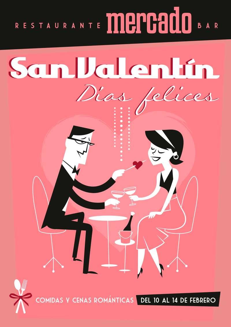 Restaurante Mercado de Varillas -Cartel San Valentín