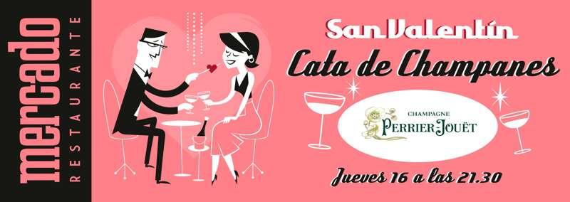 Restaurante Mercado de Varillas -Champagne San Valentín