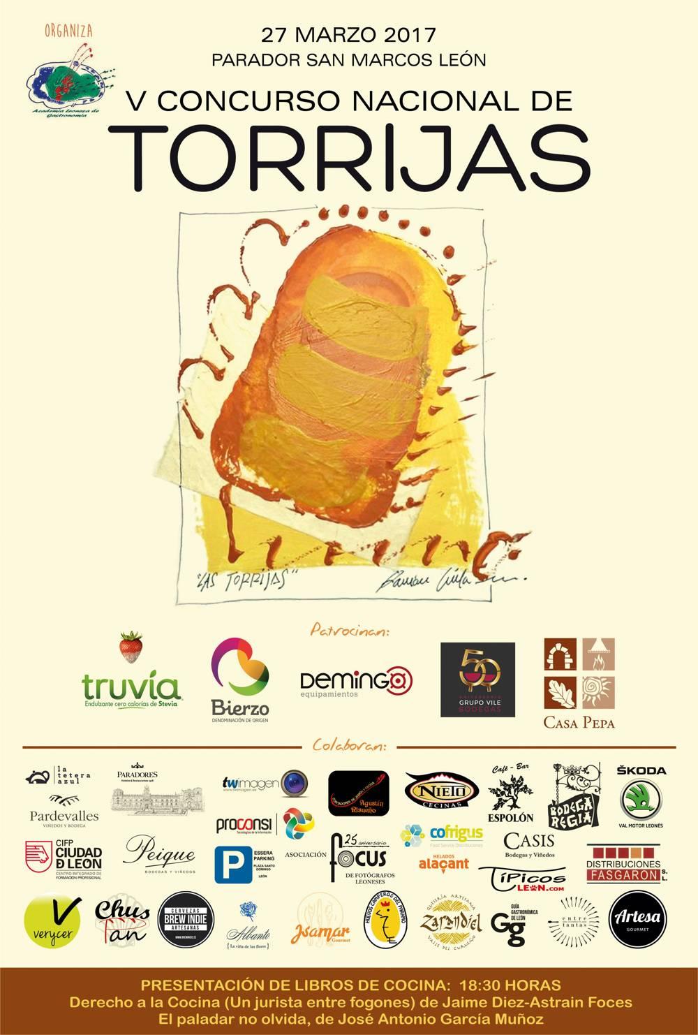 Cartel V Concurso Nacional de Torrijas