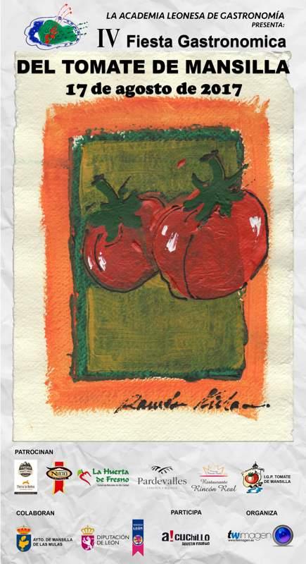 Academia Leonesa de Gastronomía y la XXVIII Feria del Tomate de Mansilla de las Mulas-Cartel