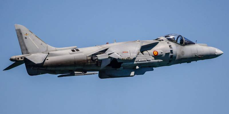 Harrier AV-8B en León Capital Gastronómica 2018
