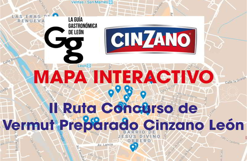 Mapa Interactivo II Ruta Concurso de Vermut Preparado Cinzano León 2018