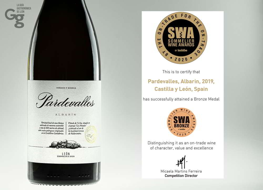 Pardevalles Albarín Premio Sommelier Wine Awards